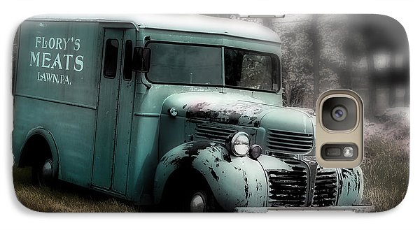 Galaxy Case featuring the painting Meat Truck by Gray  Artus