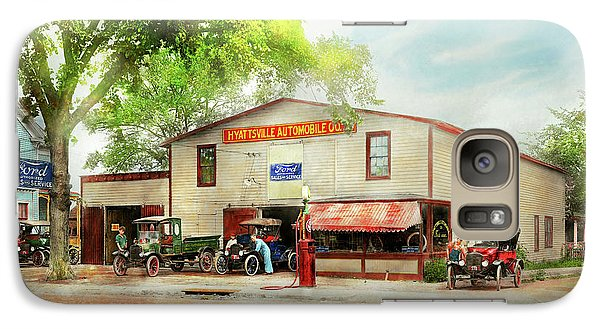 Galaxy Case featuring the photograph Mechanic - All Cars Finely Tuned 1920 by Mike Savad