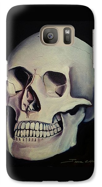 Galaxy Case featuring the painting Medical Skull  by James Christopher Hill