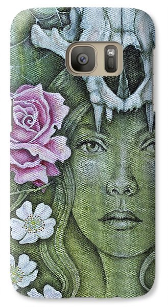 Galaxy Case featuring the mixed media Medicinae by Sheri Howe