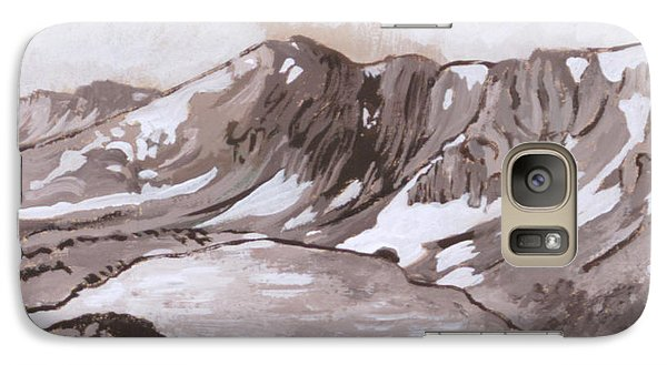 Galaxy Case featuring the painting Medicine Bow Peak Historical Vignette by Dawn Senior-Trask
