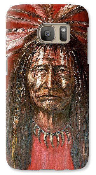 Galaxy Case featuring the painting Medicine Man by Arturas Slapsys