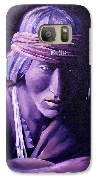 Galaxy Case featuring the painting Medicine Man by Nancy Griswold