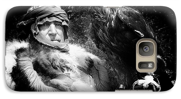 Galaxy Case featuring the photograph Medieval Fair Barbarian And Golden Eagle by Bob Christopher