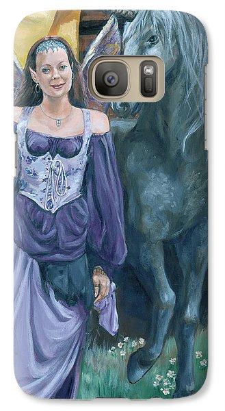 Galaxy Case featuring the painting Medieval Fantasy by Bryan Bustard