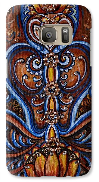 Galaxy Case featuring the painting Meditation by Harsh Malik