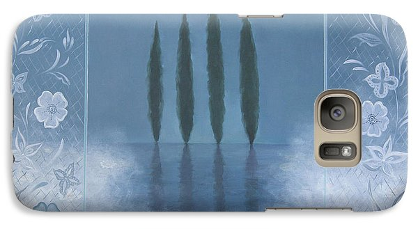 Galaxy Case featuring the painting Meditation by Tone Aanderaa