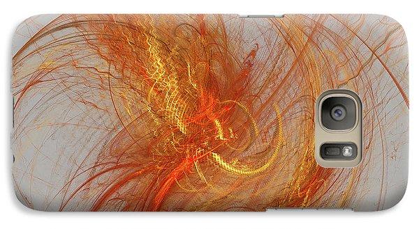 Galaxy Case featuring the digital art Medusa Bad Hair Day - Fractal by Menega Sabidussi