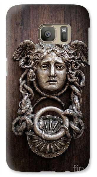 Medusa Head Door Knocker Galaxy S7 Case by Edward Fielding