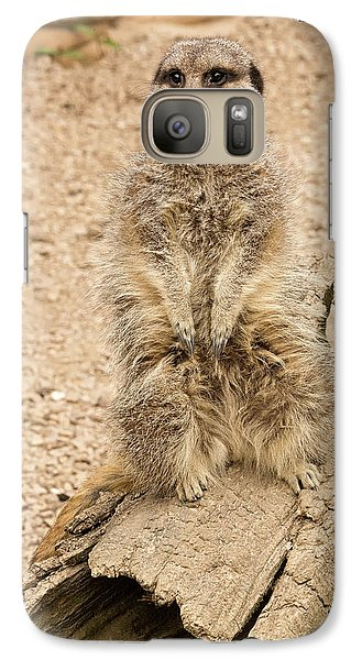 Galaxy Case featuring the photograph Meerkat by Chris Boulton