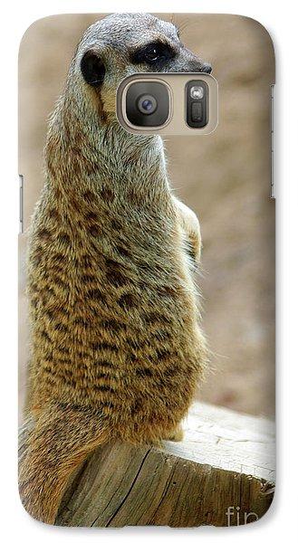 Meerkat Galaxy S7 Case - Meerkat Portrait by Carlos Caetano