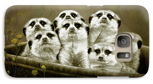 Galaxy Case featuring the digital art Meerkats by Thanh Thuy Nguyen
