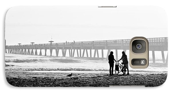 Galaxy Case featuring the photograph Meet At The Pier by Phyllis Peterson