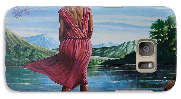 Galaxy Case featuring the painting Meet Me At The River by Anthony Mwangi
