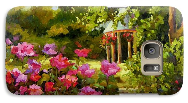 Galaxy Case featuring the painting Meet Me In The Garden by Chris Brandley