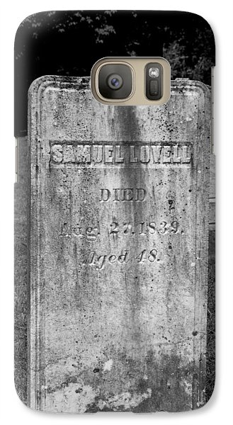 Galaxy Case featuring the photograph Meeting House Graveyard 3 by Dick Botkin
