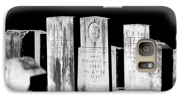 Galaxy Case featuring the photograph Meeting House Graveyard 4 by Dick Botkin