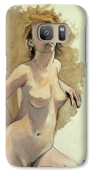 Galaxy Case featuring the painting Megan by Ray Agius