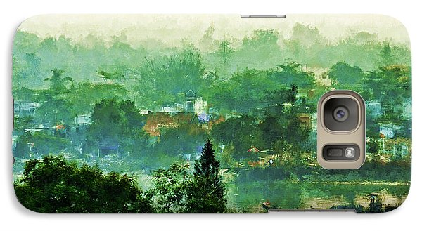 Galaxy Case featuring the digital art Mekong Morning by Cameron Wood