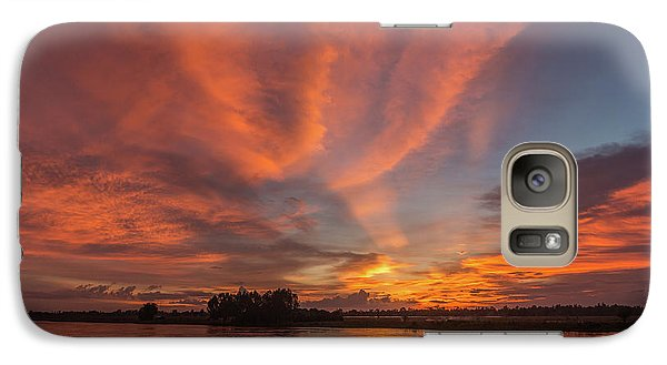 Galaxy Case featuring the photograph Mekong Sunset 3 by Werner Padarin