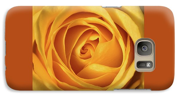 Galaxy Case featuring the photograph Mellow Yellow Rose Square by Terry DeLuco