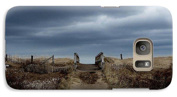 Galaxy Case featuring the photograph Melmerby Beach Boardwalk by Kathleen Sartoris