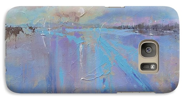 Galaxy Case featuring the painting Melting Reflections by Laura Lee Zanghetti
