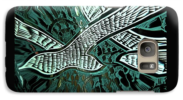 Galaxy Case featuring the digital art Memorial Swallows by Lenore Senior