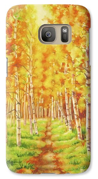 Galaxy Case featuring the painting Memories Of The Birch Country by Inese Poga
