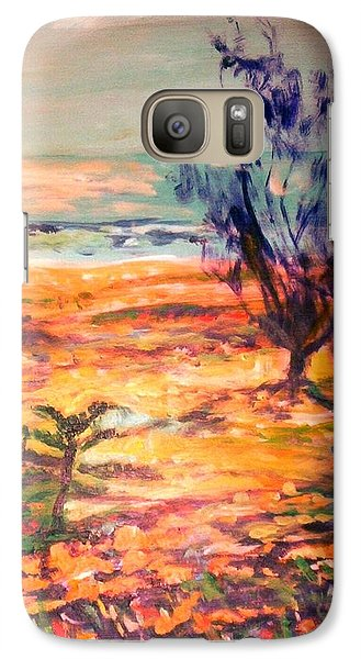 Galaxy S7 Case featuring the painting Memory Pandanus by Winsome Gunning