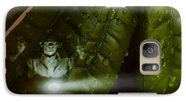 Galaxy Case featuring the photograph Men In Green by Randy Sylvia
