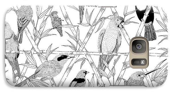 Menagerie Black And White Galaxy Case by Jacqueline Colley