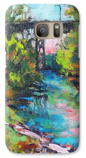 Galaxy Case featuring the painting Menominee Viaduct by Les Leffingwell
