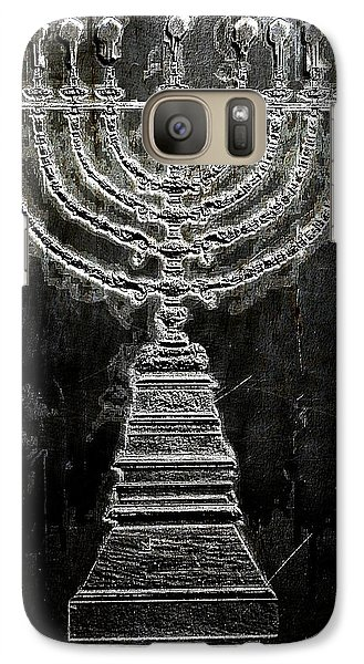 Galaxy Case featuring the digital art Menorah by Aaron Berg