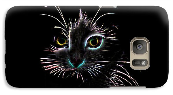 Galaxy Case featuring the digital art Meow  by Aaron Berg