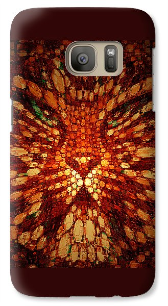 Galaxy Case featuring the digital art Meow by Paula Ayers