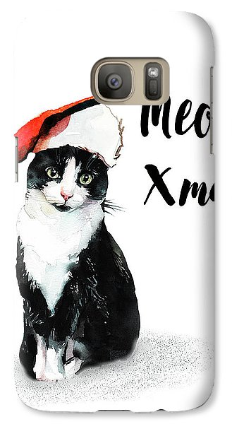 Galaxy Case featuring the painting Meowy Xmas by Colleen Taylor