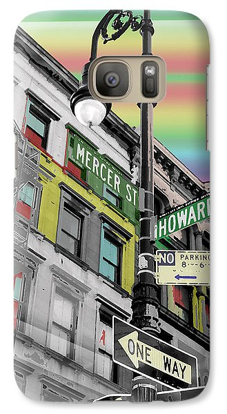 Galaxy Case featuring the photograph Mercer St by Christopher Woods