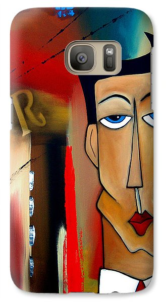 Merger - Abstract Art By Fidostudio Galaxy S7 Case by Tom Fedro - Fidostudio