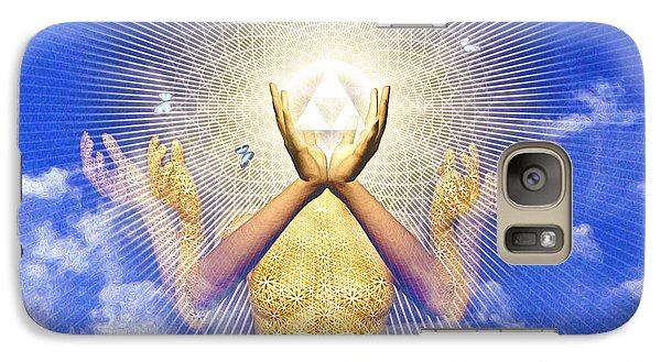 Galaxy Case featuring the painting Merkaba Awakening by Robby Donaghey