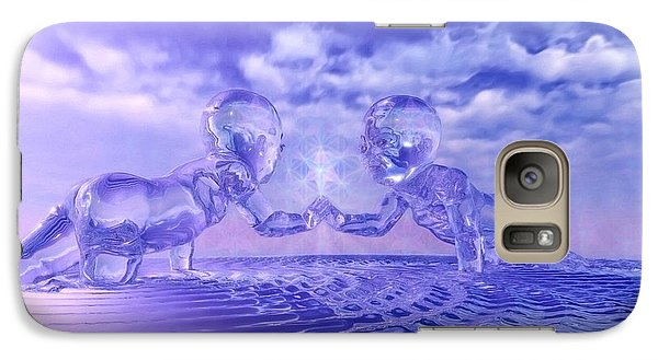 Galaxy Case featuring the painting Merkaba Babies by Robby Donaghey