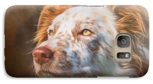Galaxy Case featuring the photograph Merle Border Collie by Eleanor Abramson