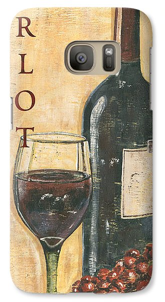 Merlot Wine And Grapes Galaxy S7 Case by Debbie DeWitt