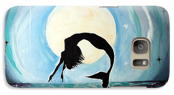 Galaxy Case featuring the painting Mermaid by Tom Riggs