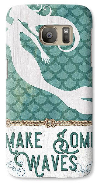 Seahorse Galaxy S7 Case - Mermaid Waves 1 by Debbie DeWitt