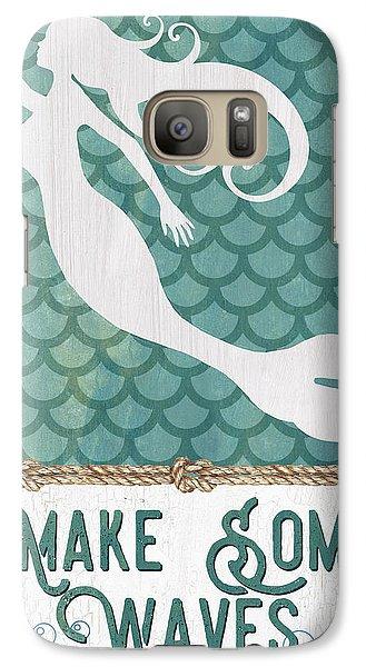 Fairy Galaxy S7 Case - Mermaid Waves 1 by Debbie DeWitt