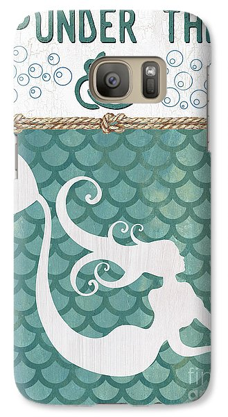 Seahorse Galaxy S7 Case - Mermaid Waves 2 by Debbie DeWitt