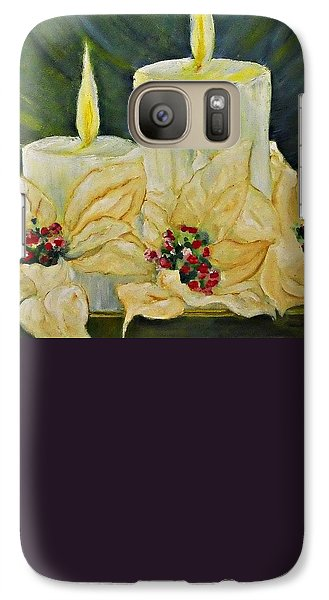 Galaxy Case featuring the mixed media Our Lady And Child Jesus by AmaS Art