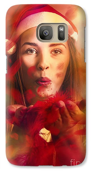 Merry Christmas Elf Galaxy S7 Case by Jorgo Photography - Wall Art Gallery