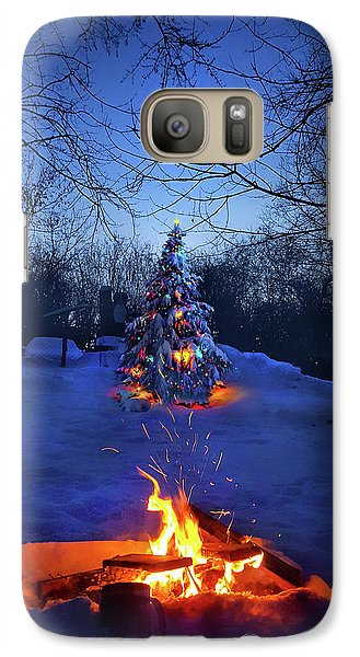 Galaxy Case featuring the photograph Merry Christmas by Phil Koch